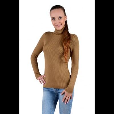 Водолазка женская с длинным рукавом из верблюжьей шерсти - фото 11217